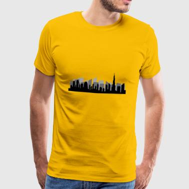 dubai skyline - Men's Premium T-Shirt