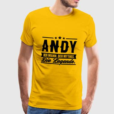 Man Myth Legend Andy - Men's Premium T-Shirt