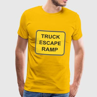 Road sign truck escape ramp - Men's Premium T-Shirt