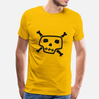 Fools pirate ship boat pirate pirate ship ship skull1 - Men's Premium T-Shirt