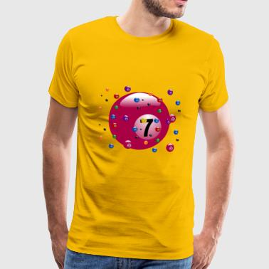 pool Billards biljard snooker kö bollen sport16 - Premium-T-shirt herr