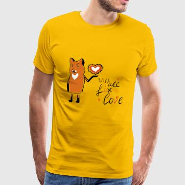 With all the love of Mr. Fox - Men's Premium T-Shirt