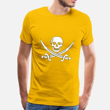 Fools pirate ship boat pirate pirate ship ship skull9 - Men's Premium T-Shirt