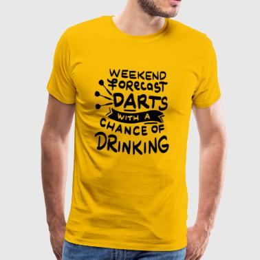 Weekend forecast Darts and Beer - Men's Premium T-Shirt