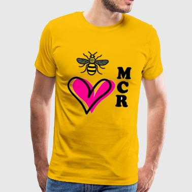 I Love Manchester bee - Men's Premium T-Shirt
