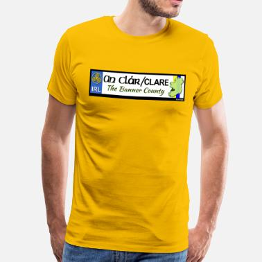 Clare CO. CLARE, IRELAND: licence plate tag style decal - Men's Premium T-Shirt