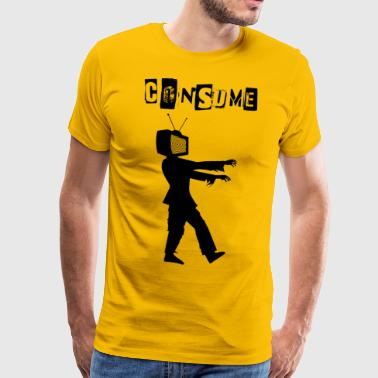 consommer Zombie - T-shirt Premium Homme