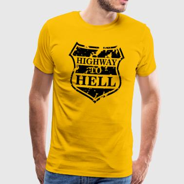 Highway to Hell - Premium T-skjorte for menn