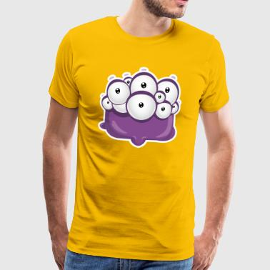 monster_look_bg - Männer Premium T-Shirt