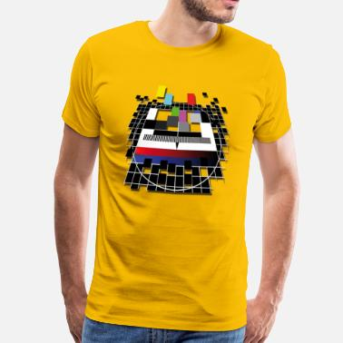 Tv-testbeeld TV screen beeld - Mannen Premium T-shirt