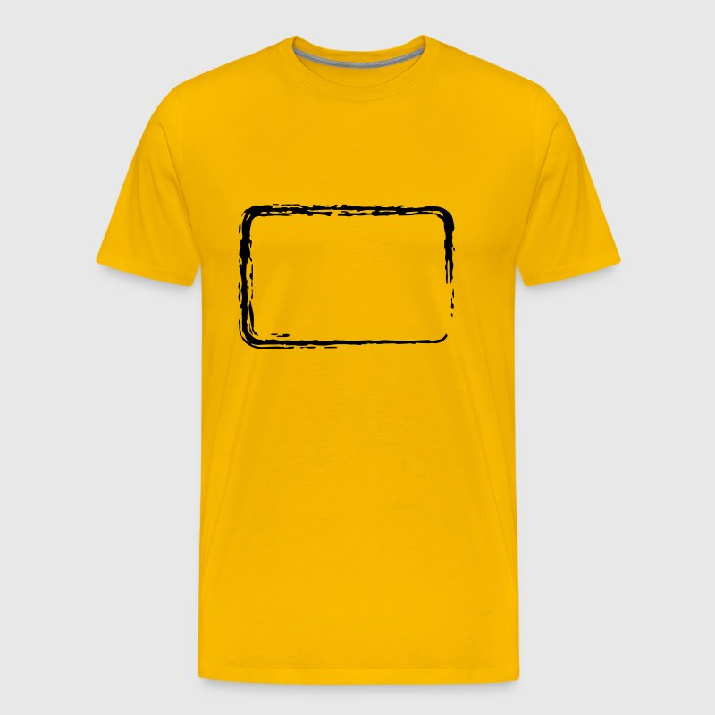 Brush stroke frame - Men's Premium T-Shirt