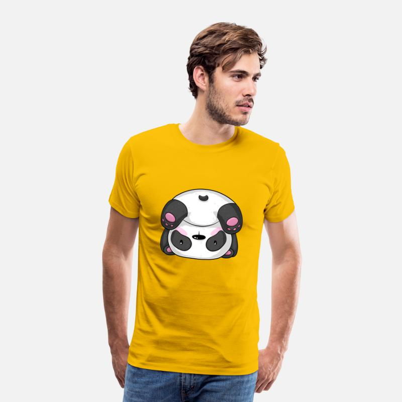 Love T-Shirts - Sporty cartoon panda - Men's Premium T-Shirt sun yellow