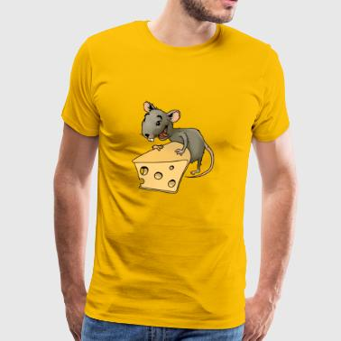 Fiese mus rodent mus ohyra rodent ost - Premium-T-shirt herr