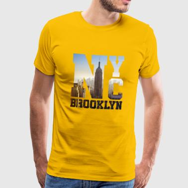 New York City - Brooklyn - NYC États-Unis - Idée cadeau - T-shirt Premium Homme