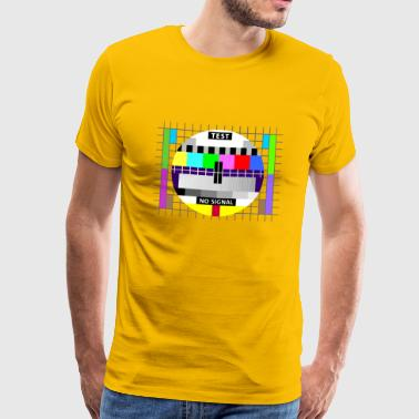 Testbild test card status no signal screen Display - Männer Premium T-Shirt