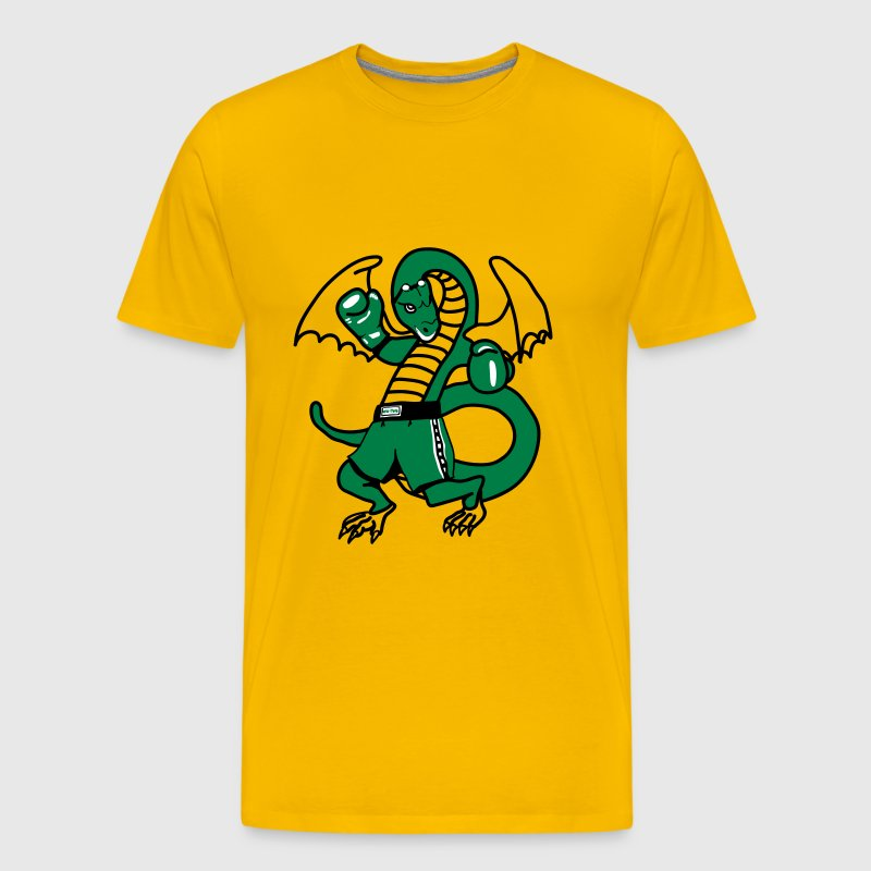 Dragon boxing sport fighting cool comic - Men's Premium T-Shirt