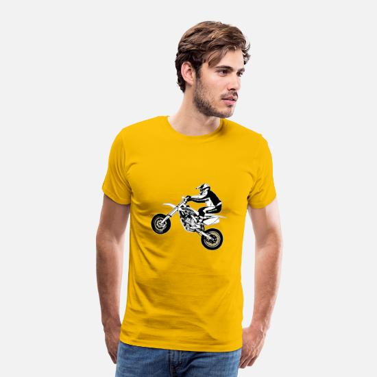 Motorcycle T-Shirts - Supermoto - Supermotard - Men's Premium T-Shirt sun yellow