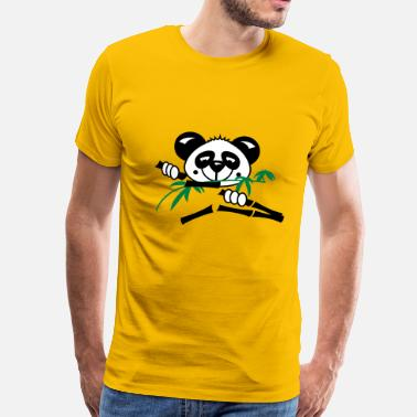 Bamboo Panda loves bamboo plants  - Men's Premium T-Shirt