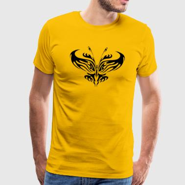 Tattoo Romantisch Tribal Tattoo Schmetterling - Männer Premium T-Shirt