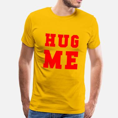 Bachelorparty HUG ME RED - Mannen Premium T-shirt
