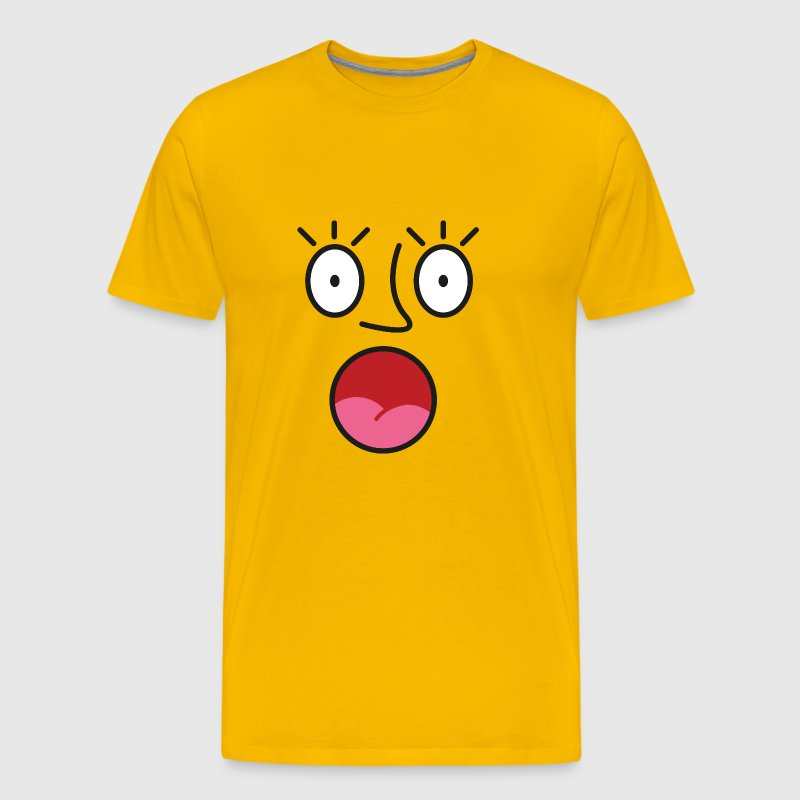 Shocked face - Men's Premium T-Shirt