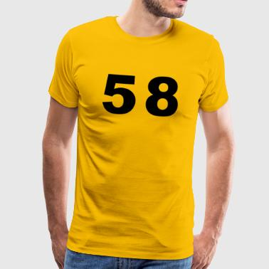 Number - 58 – Fifty Eight - Men's Premium T-Shirt
