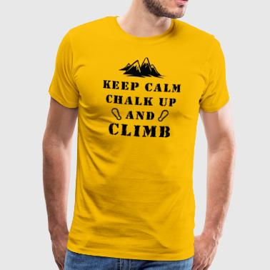 Kiipeily Keep Calm Chalk Up And Climb - Miesten premium t-paita