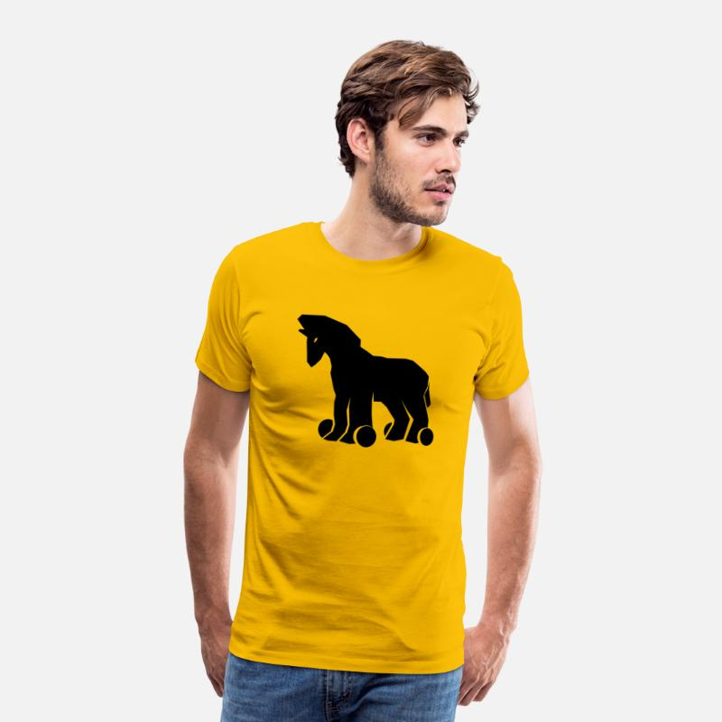 Greece T-Shirts - Trojan Horse - Men's Premium T-Shirt sun yellow