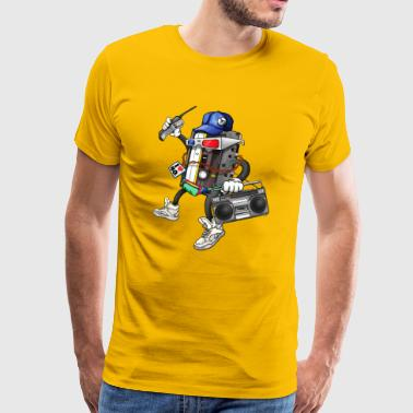 80s Retro Funky Design - Men's Premium T-Shirt