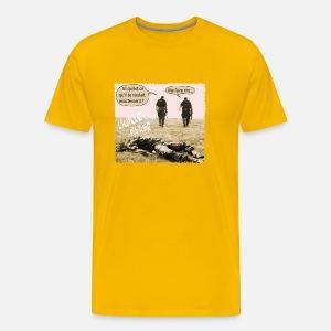Humor meg drepe Premium T skjorte for menn | Spreadshirt