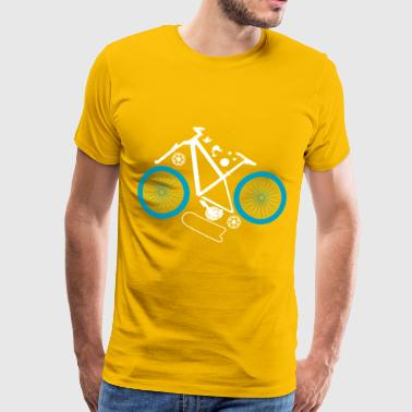 Mountainnike Kit - Mountainbike in Einzelteilen - Männer Premium T-Shirt