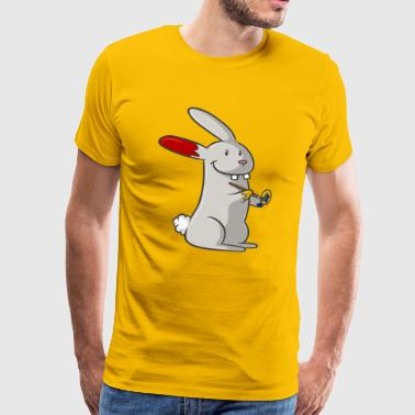 Painting cartoon bunny - Men's Premium T-Shirt