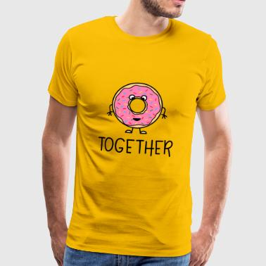 Better Together Partnerlook (Part2) Donut - Men's Premium T-Shirt