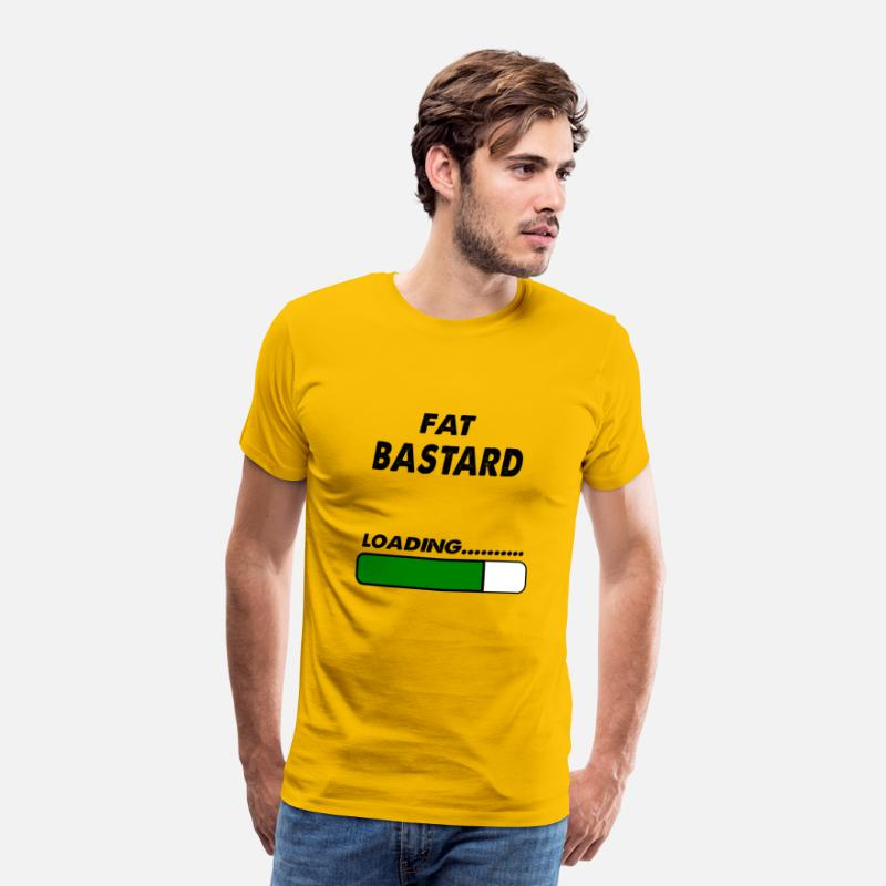 Bastard T-Shirts - fat bastard loading - Men's Premium T-Shirt sun yellow