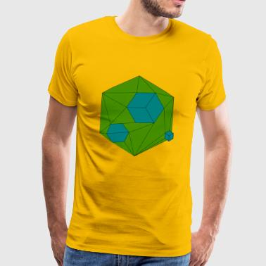 Damaged Cube Blue - Männer Premium T-Shirt