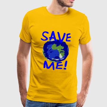 Save the World - Mannen Premium T-shirt