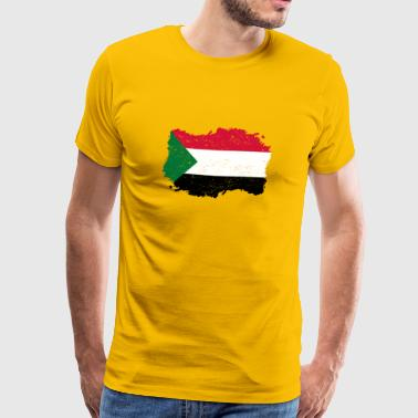 Sudan Roots Roots Flag Homeland Country Sudan png - Men's Premium T-Shirt