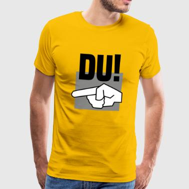 Du spion finger - Herre premium T-shirt