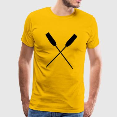 Crossed paddle water paddling paddling - Men's Premium T-Shirt