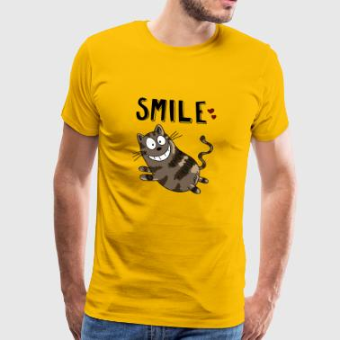 Smile Cheshire Cat - Cat - Cats - Heart - Cat - Premium T-skjorte for menn