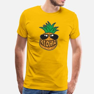 Aloha Aloha pineapple - Men's Premium T-Shirt