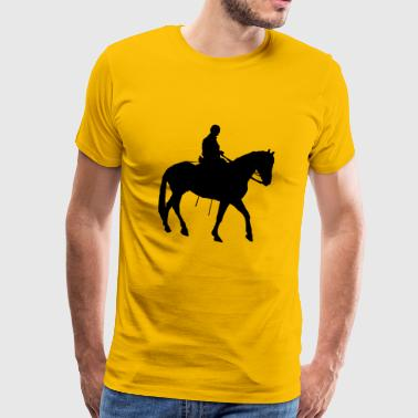 Horse Illustration - Black Horse - Men's Premium T-Shirt