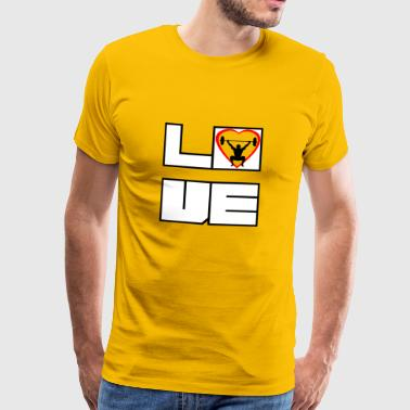 Love love cross fitness - Men's Premium T-Shirt