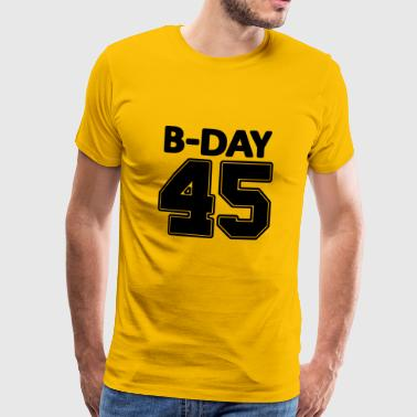 45th Birthday / Numbers Number Number Number 45 - Men's Premium T-Shirt