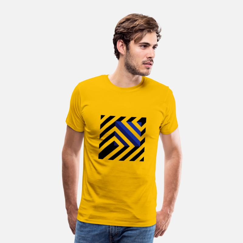Minimalist T-Shirts - GeoSquare - Men's Premium T-Shirt sun yellow