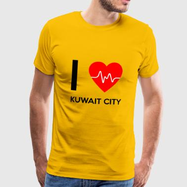I Love Kuwait City - I love Kuwait City - Men's Premium T-Shirt