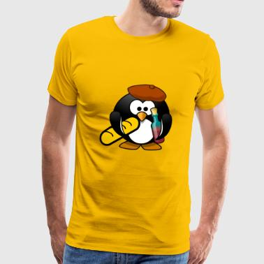 Penguin Frenchman - Men's Premium T-Shirt