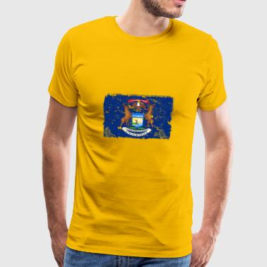Michigan vintage flag - Men's Premium T-Shirt