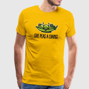 Give Peas A Chance Give peas / peace a change hippies - Men's Premium T-Shirt