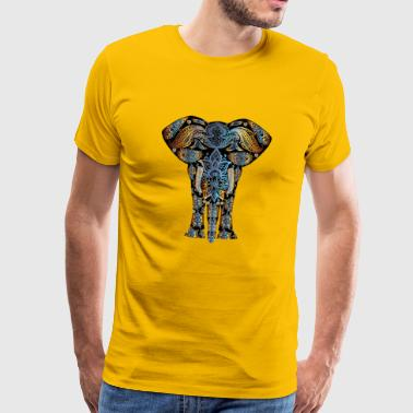 Ornament Elefant - Männer Premium T-Shirt
